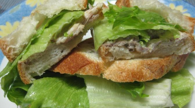 鯖のサンドイッチ