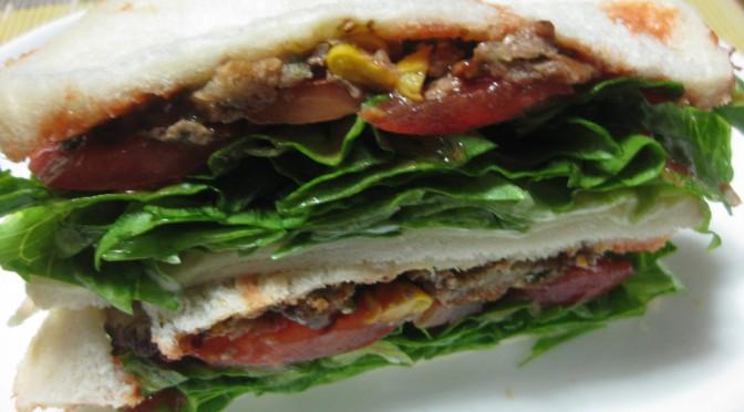 ハンバーグのサンドイッチ