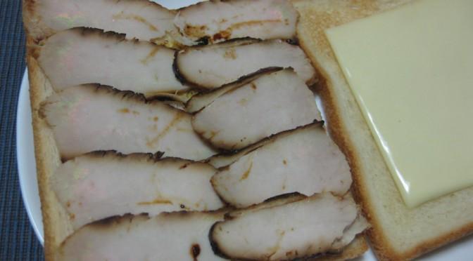 鶏の味噌漬けのサンドイッチ