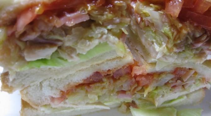 蒸しキャベツのサンドイッチ