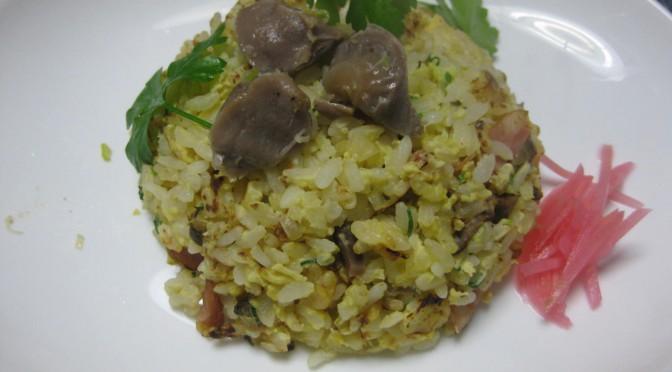 砂肝やわらか炒めの焼き飯