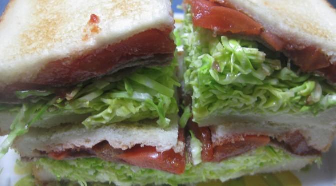 焼き肉のサンドイッチ