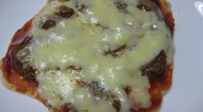 トルティーヤでピザ