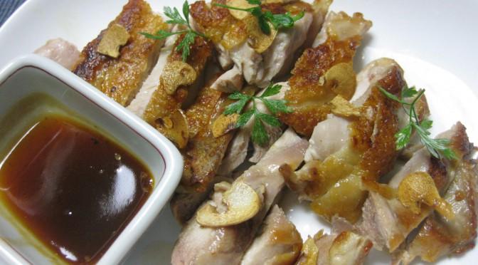 鶏もも肉の皮パリパリ焼き02
