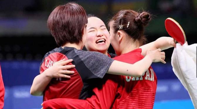 卓球3人娘銅メダル