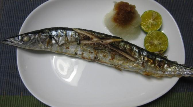 京都で焼き秋刀魚