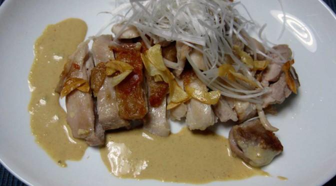 鶏もも肉の皮パリパリ焼き03