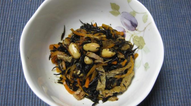 ひじきと大豆の煮物withベーコン