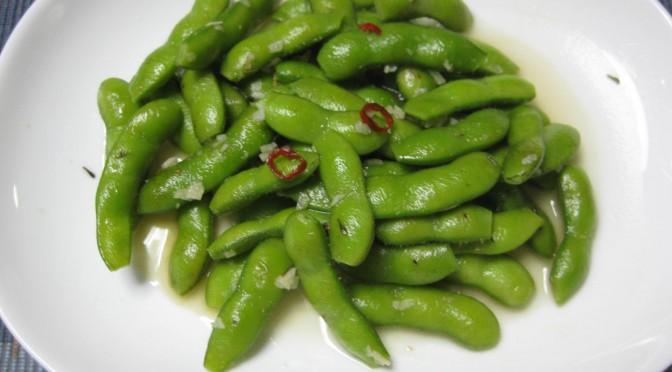 枝豆のニンニク炒め