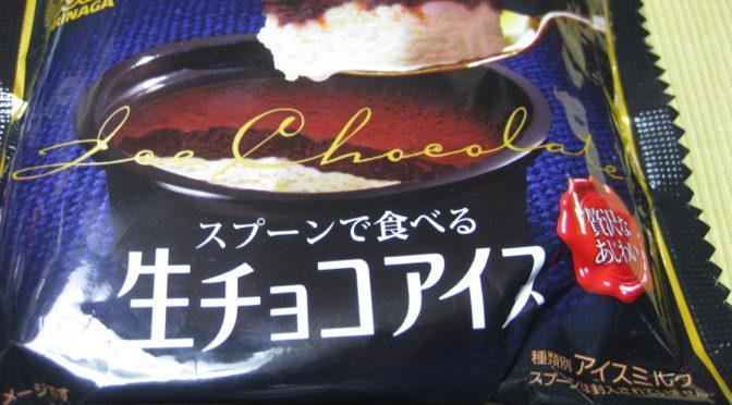 スプーンで食べる生チョコアイス