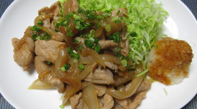 豚肉炒め定食?
