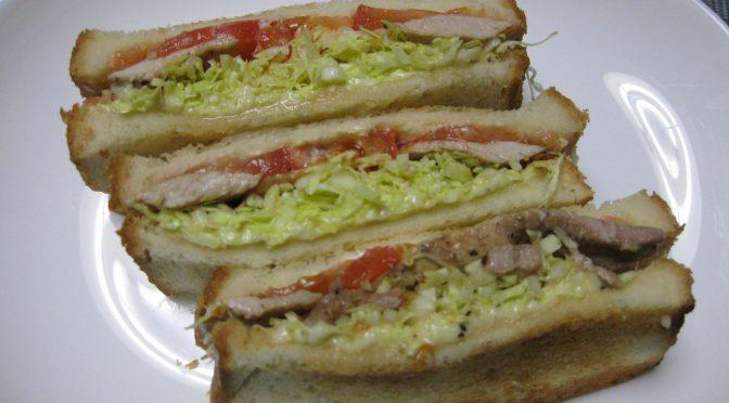 豚ステーキのサンドイッチ