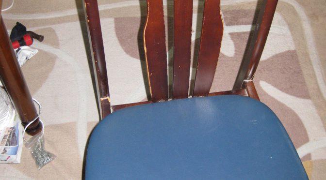 椅子の塗り替え張り替え その壱